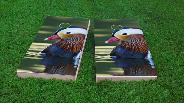 Duck Hunting Themed Custom Cornhole Board Design
