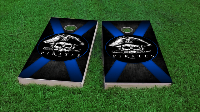 Pirate Theme 2 Blue Cornhole Board Design