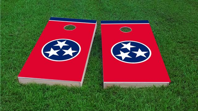 Tennessee State Flag Themed Custom Cornhole Board Design