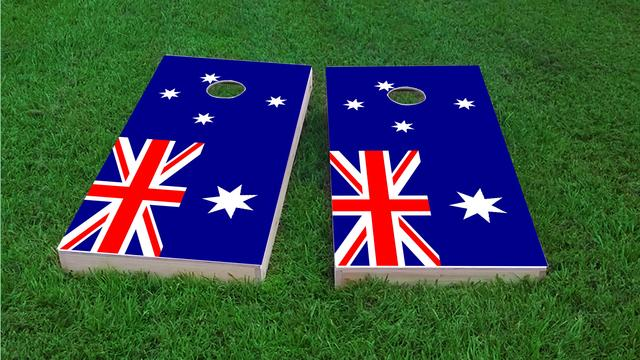 Australia National Flag Themed Custom Cornhole Board Design
