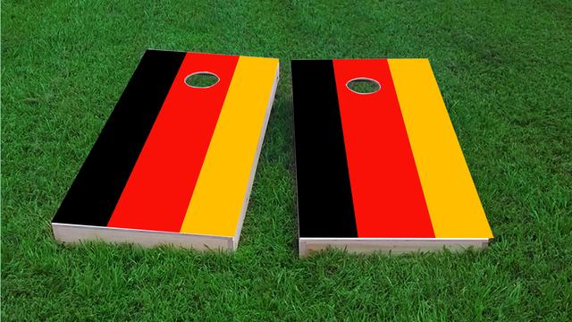 Germany National Flag Themed Custom Cornhole Board Design