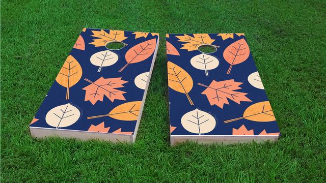 Leafship Themed Custom Cornhole Board Design