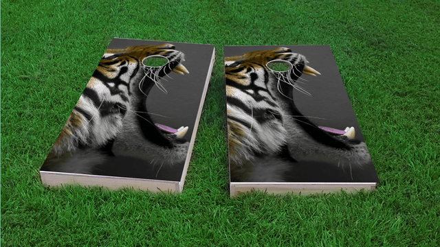 Crouching Tiger Themed Custom Cornhole Board Design