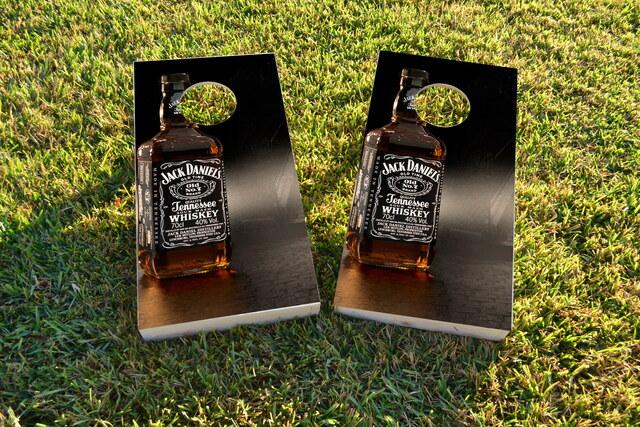 Jack Daniels Themed Custom Cornhole Board Design