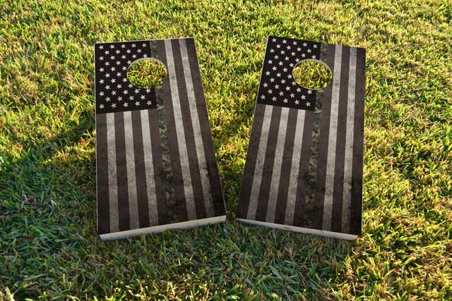 American Thin ACU (Army) Line Themed Custom Cornhole Board Design