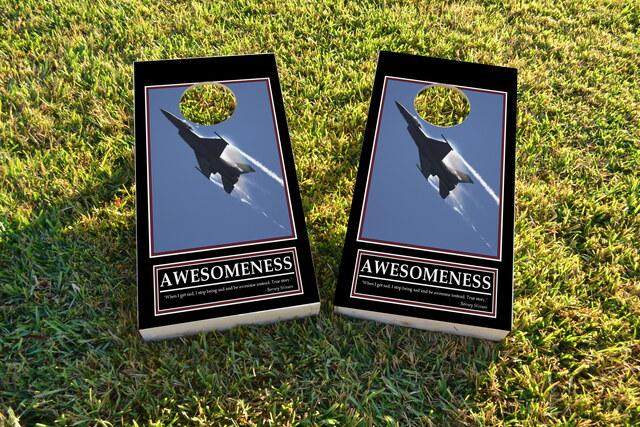 Barney Stinsons Awesomeness Motivational Themed Custom Cornhole Board Design