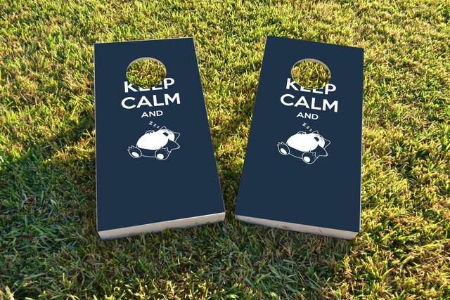 Keep Calm And Nap On It  Themed Custom Cornhole Board Design