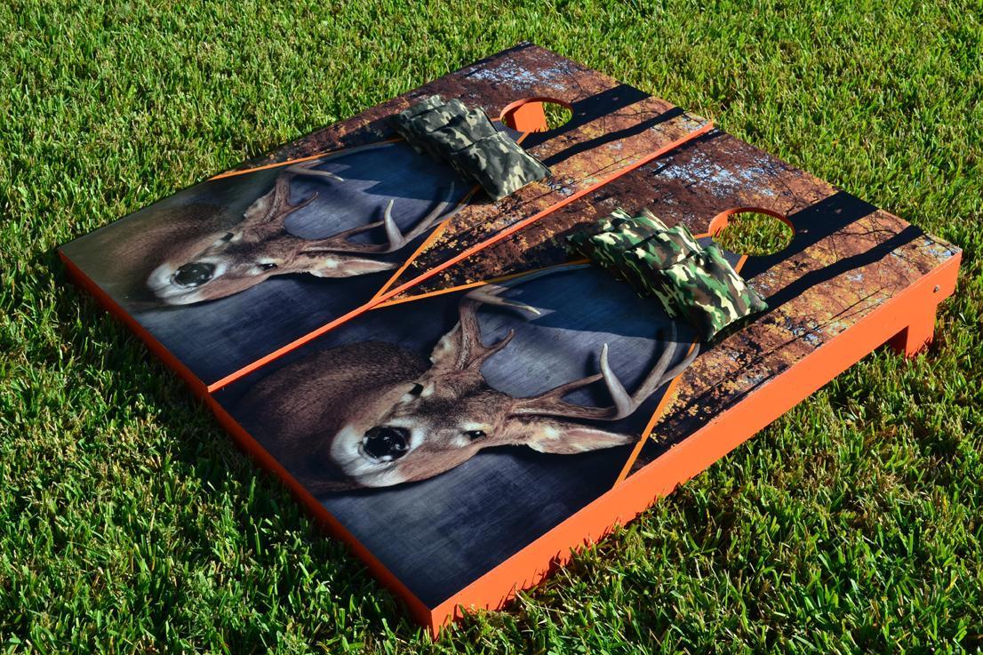 Deer Buck Hunting Themed Cornhole Boards Image 1