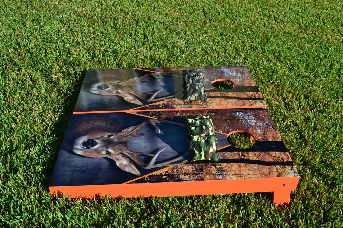 Deer Buck Hunting Themed Cornhole Boards Image 2
