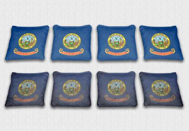 Idaho State Flag Themed Custom Cornhole Bags