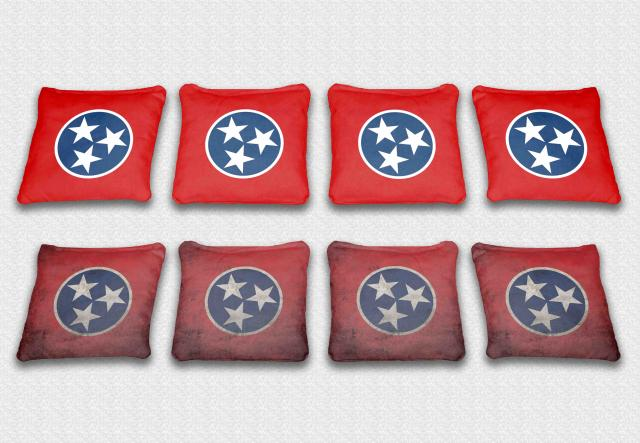 Tennessee State Flag Themed Custom Cornhole Bags