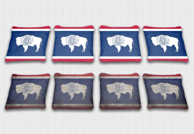 Wyoming State Flag  Themed Specialty Custom Cornhole Bags