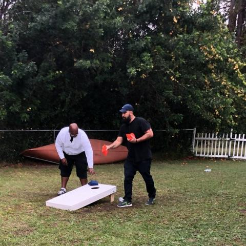 Where did the game corn hole get its name?