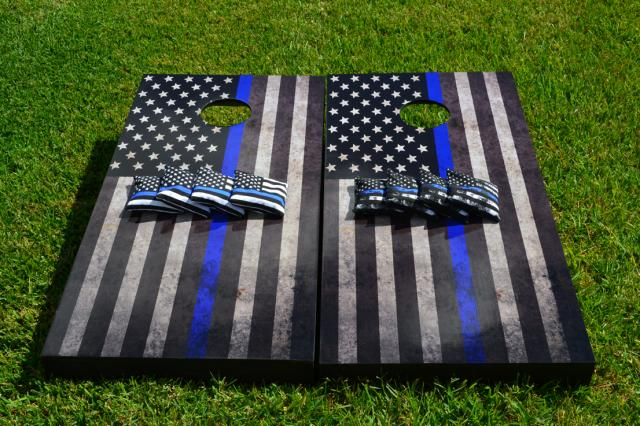 American Thin Blue Line Game Set