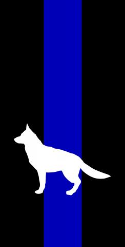 American Blue Line K9 Themed Custom Cornhole Board Design