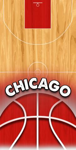Basketball Chicago Themed Custom Cornhole Board Design