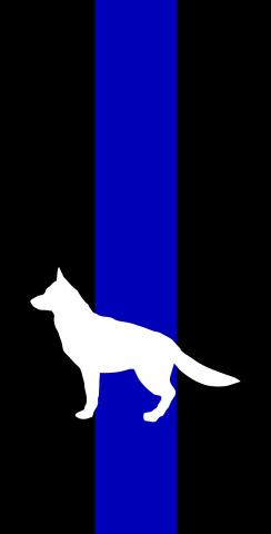 Blue Line K9 Themed Custom Cornhole Board Design