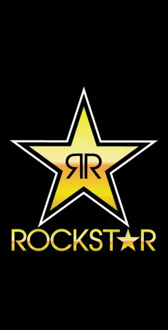 Rockstar Energy Drink Themed Custom Cornhole Board Design
