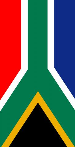 South Africa National Flag Themed Custom Cornhole Board Design