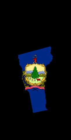 Vermont State Flag Outline (Black Background) Themed Custom Cornhole Board Design