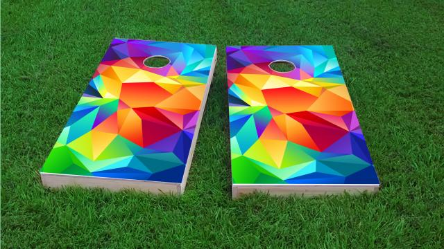 Bright Colored  Flipped Prisms