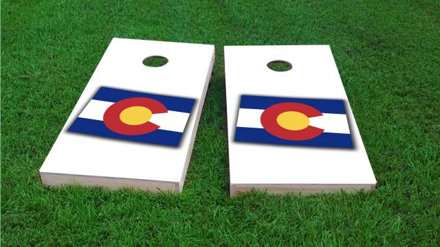 Colorado State Flag Outline (White Background)