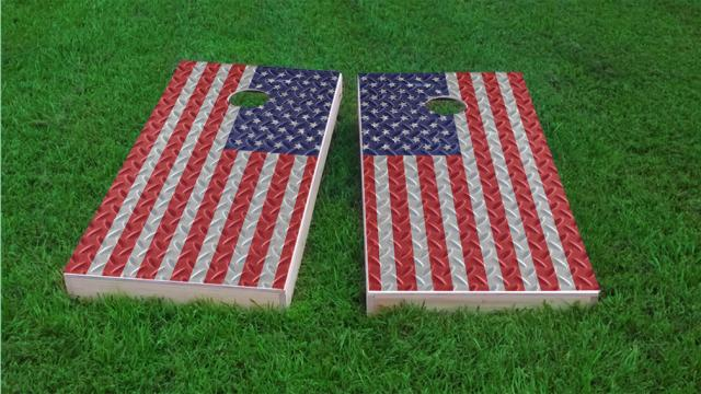 Diamond Plate American Flag