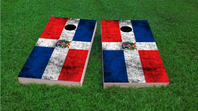Worn National (Dominican Republic) Flag