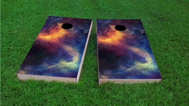 Galaxy Themed Cornhole Boards