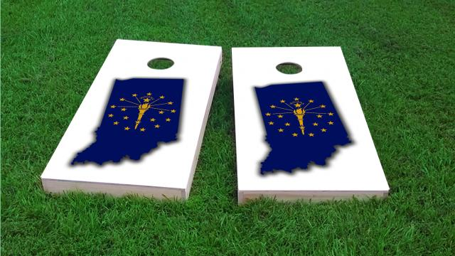Indiana State Flag Outline (White Background)