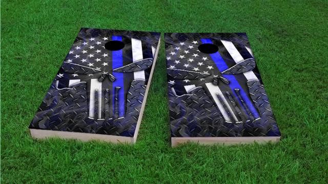 Punisher American Flag Thin Blue Line