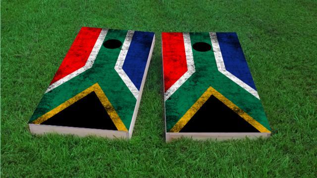 Worn National (South Africa) Flag