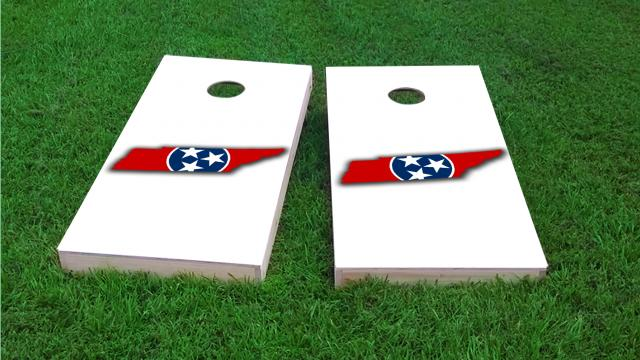 Tennessee State Flag Outline (White Background)
