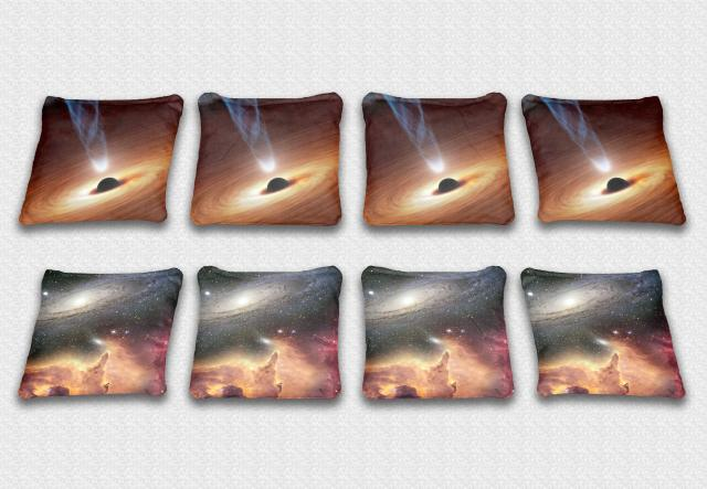 Galaxy Themed premium specialty custom cornhole bags made right here in the USA!