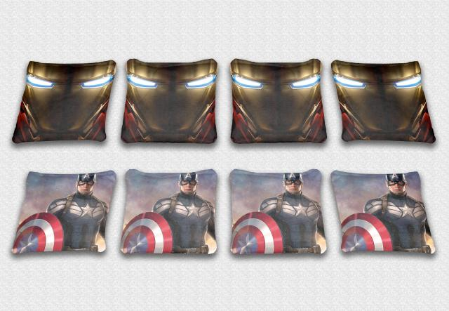Marvel Themed premium specialty custom cornhole bags made right here in the USA!