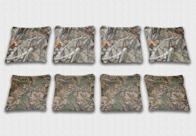 Real Camo Themed premium specialty custom cornhole bags made right here in the USA!