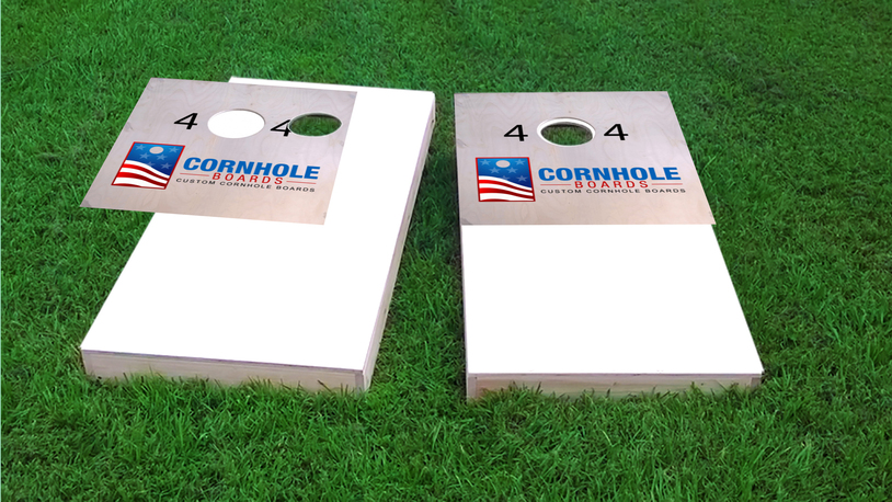 Adidas Themed Custom Cornhole Board Design