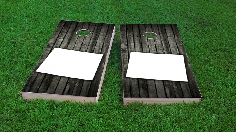 Wood Slat State (Wyoming) Themed Custom Cornhole Board Design