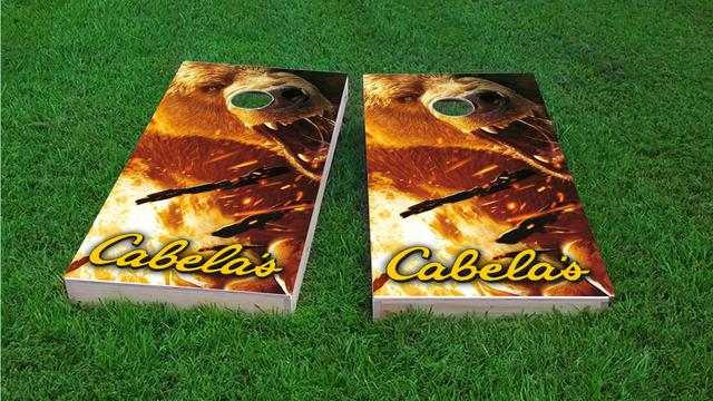 Cabela's Themed Custom Cornhole Board Design