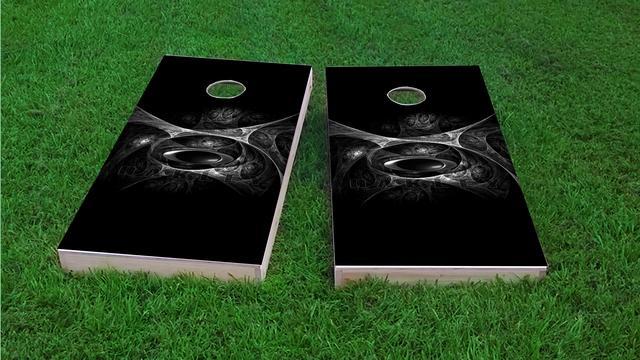 Oakley Themed Custom Cornhole Board Design