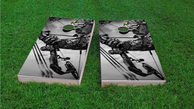 Bow Hunter #1 Themed Custom Cornhole Board Design