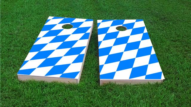 Bavaria National Flag Themed Custom Cornhole Board Design