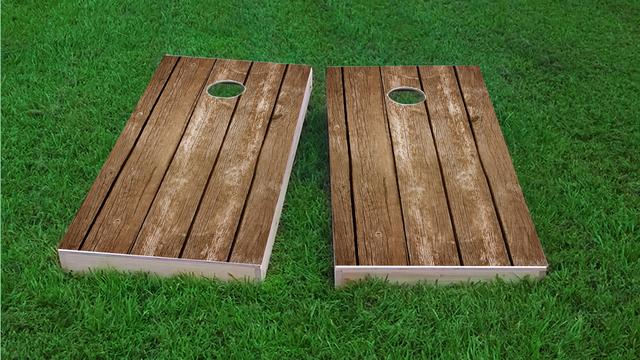 Blank Wood Slat Themed Custom Cornhole Board Design