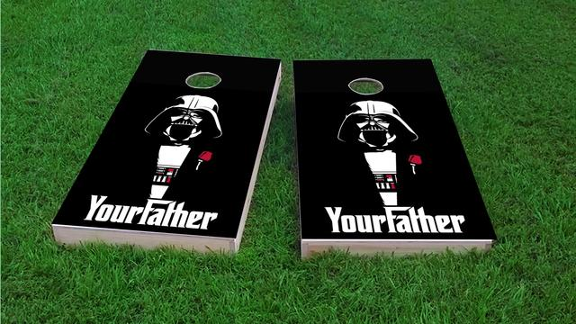 Your Father Darth Vader Themed Custom Cornhole Board Design