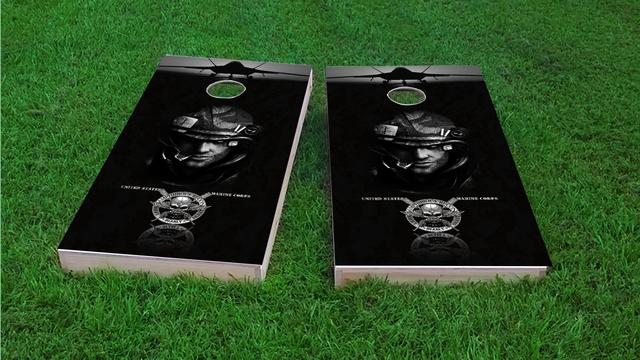 USMC Amphibious Recon Themed Custom Cornhole Board Design