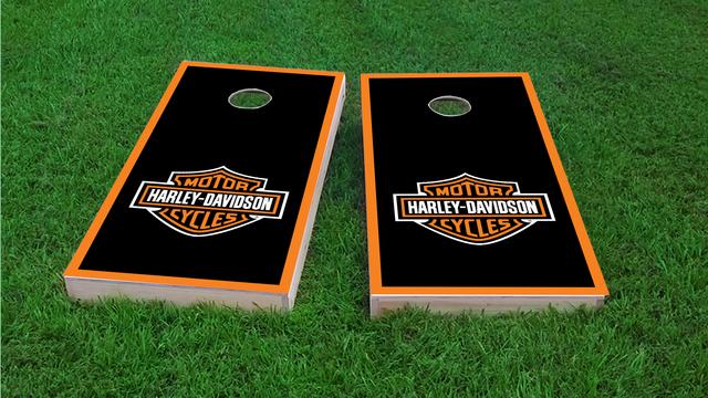 Harley Davidson Original Themed Custom Cornhole Board Design