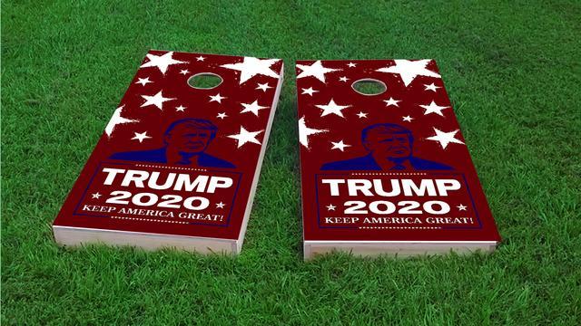 Donald Trump 2020 Themed Custom Cornhole Board Design
