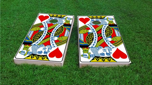 King Playing Card Themed Custom Cornhole Board Design
