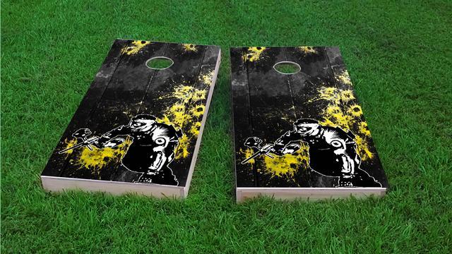 Paintball Themed Custom Cornhole Board Design