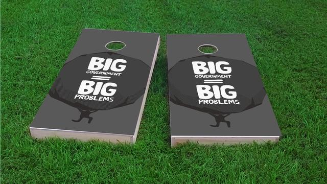 Political Big Government Themed Custom Cornhole Board Design